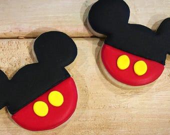 Mickey Mouse Sugar Cookies - 1 Dozen
