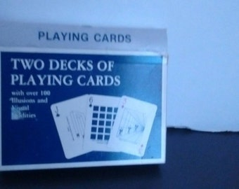 2 Decks of Illusion and visual oddities playing cards 1 Sealed size deck