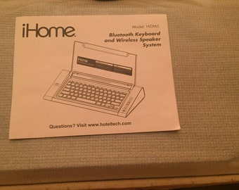 iHome Bluetooth keyboard and wireless speaker system. NEW IN BOX