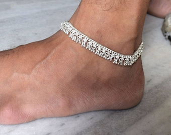 Anklet, Silver Anklet, Ankle Chain, Anklet Bracelet, Foot Chain, Beach Anklet, Tribal Anklet, Gypsy Anklet,