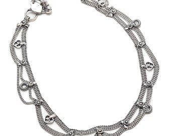 ANKLET, Ankle Bracelet, Silver Anklet, Boho Anklet, Wedding Anklet, Bohemian Anklet, Gypsy Anklet, Tible Anklet, Beach Anklet