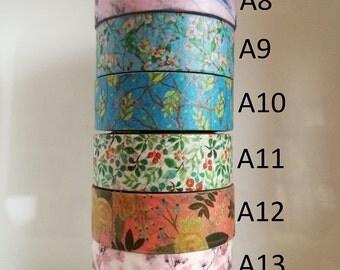 NEW Washi Tape Set - Pick Your Own Washi Tape Sample (50cm per design)