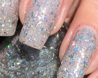 sale  Frosted Flakes  holo flakie topper nail polish