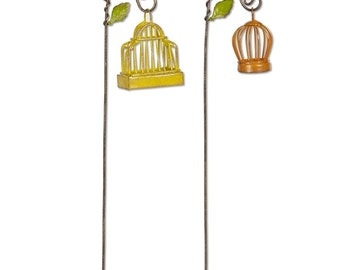Birdcages with Hooks Set of 2