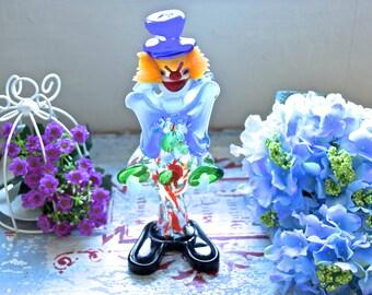 MURANO GLASS CLOWN / vintage murano glass clown / colourful murano glass clown / old murano glass clown / murano glass figurine