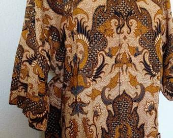 Vintage 70s batik shirt