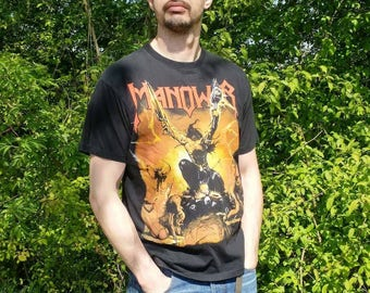 Vintage Manowar shirt Large
