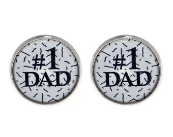 Dad Cufflinks - Father Cufflinks - Daddy Cufflinks - Cufflinks For Dad - Dad Keepsake - Gift For Dad - Father Gift - Father of the Bride