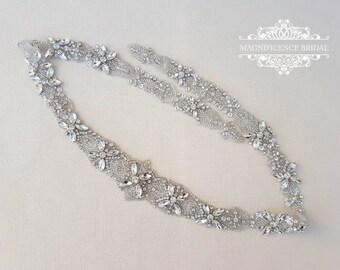 Bridal belt, wedding belt, bridal sash, rhinestone belt, sash belt, wedding sash belt, crystal belt, bridal trim, rhinestone sash, JAMIE