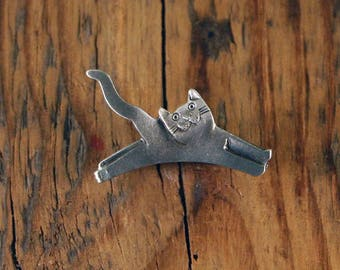 Leaping Cat Pin