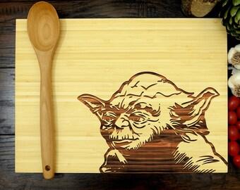 Star Wars Cutting Board, Yoda Cutting Board, Cutting Board, Anniversary Gift, Wedding Gift, Groomsmen Gift, Chef Gift