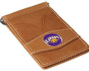 North Alabama Lions Tan Leather Wallet Card Holder
