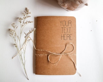 Personalised Notebook - Custom Notebook - Personalised Journal - Custom Logo Notebook - Custom Bulk Notebook -Recycled Notebook