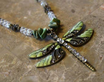 Light Green Dazzled Butterfly Necklace