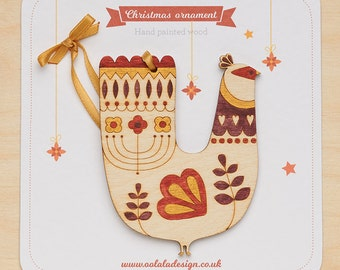 Bird Christmas ornament, Christmas tree decoration, Bird decoration, Christmas tree bird oranment, Swedish Christmas descoration,