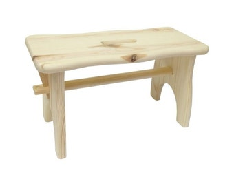 light wood stool cm. 38x19xh21 footstool