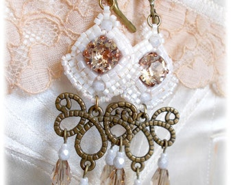 Earrings Valmont No.9/style antique/historical/rococo/baroquemarie antoinette/pompadour/romantic inspiration
