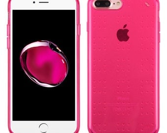 Transparent /  HOT PINK iPhone 7 Plus / 8 Plus  TPU Gel  Case