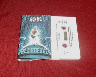 ACDC Ballbreaker Cassette Tape  Classic Heavy Metal Angus Young,