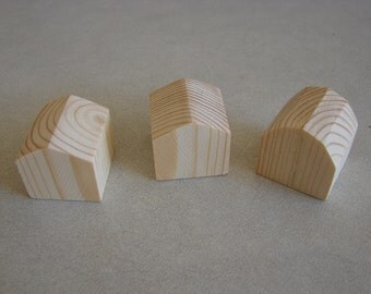 Miniature Pine Wood Buildings -3 Miniature Wood Buildings Little Houses With Barn
