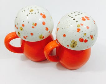 Funky Vintage Retro Salt and Pepper Shakers - 1970s