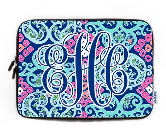 Custom Monogram Laptop Case 15.6,Monogram Laptop Bag,Laptop Sleeve 12, Monogram Laptop Case 17,Macbook Sleeve 15,Gift For Her