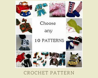 Crochet Patterns, Baby Crochet, Assorted Patterns, Baby Crochet Pattern, Set of 10 Patterns, Crochet Baby Pattern, Crochet Newborn, Download