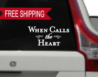 When Calls The Heart Car Decal, WCTH, Hearties Window Decal
