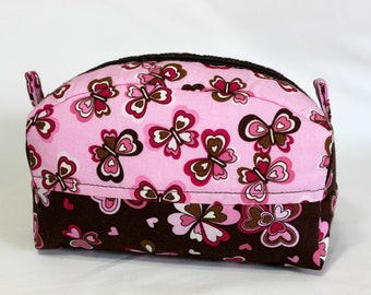 Zippered pouch, Medium Size, Cosmetic Bag, Bridesmaid Gift, Toiletries Bag, Baby Products Bag, Travel Bag, Sewing Notions Bag, 1028