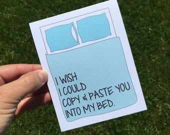 I miss you card - Long distance Relationship card - I love you card - Funny relationship card