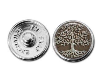 Tree of life charm, tree of life jewelry, snap button charm, button charm, snap charm, snap in charm, button snap charm, button jewelry