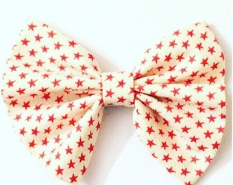 Red and White Star  Bow
