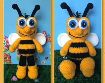 Mr. Buzzbee Amigurumi (PDF pattern only, not the finished doll)