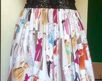 Size 18-20, Dress, Ladies, Full Skirt, Vintage
