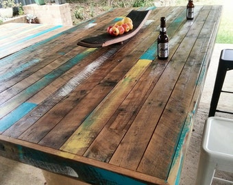 Rustic Recycled Timber Table Top / Excellent For Bars / Restaurants / Pubs  / Alfresco Areas