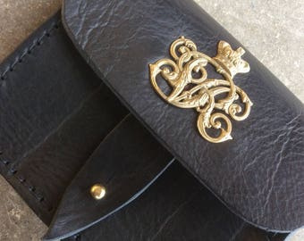 Victorian style ammo pouch for wallets, cell phones, and cameras