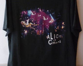 """Alice In Chains-""""Mtv unplugged"""" 1996 event t.shirt-size XL/L"""