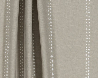 custom fabric shower curtain carlo cove taupe stripe white 54 x 78 72 x 84 108