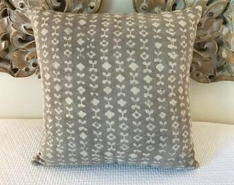 Hand Loomed Block Print Cushion