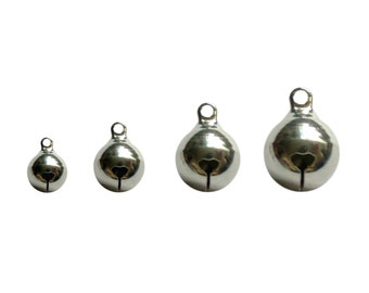 100pcs Silver Color 8mm Jingle Bell Charm