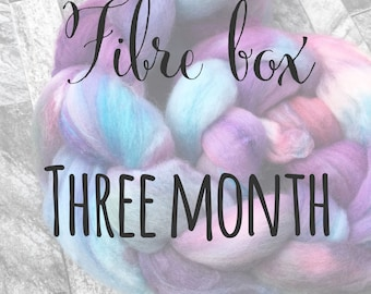Three Month Fibre Box Subscription - Spinning Weaving Felting
