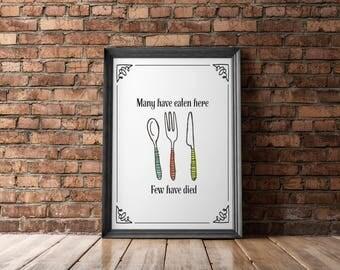 Typography Poster Minimalistic Digital Wall Art Kitchen Print Art