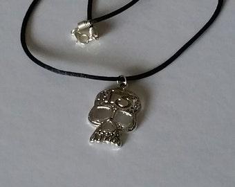 Lucky 13 Skull Pendant Necklace, Skull Pendant, Skull Necklace, Gothic Jewelry, Thirteen, Sugar Skull, Dia de los Muertos, Unique Gift Idea