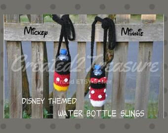 DISNEY Themed Water Bottle Sling/Mickey/Minnie/Water Bottle Holder