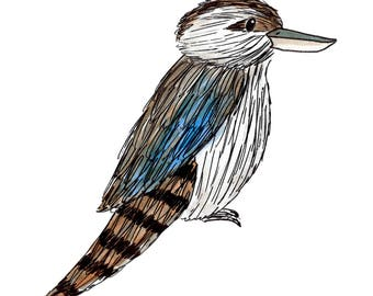 Kookaburra Archival (Giclée) Print Illustrated by Chelsea-Lee Elliott