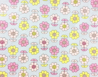 Cotton flowers, Pink Flower Fabric By The Yard, kid, girl, woman, SUNFLOWER  100% Cotton Fabric Fat Quarter, yard.