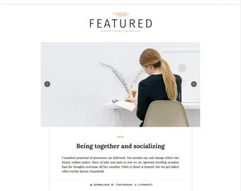 Featured Minimalist Personal Blogger Template | Clean Simple Blogger Template | Blog Design | Premade Blog Theme | Responsive Blogger