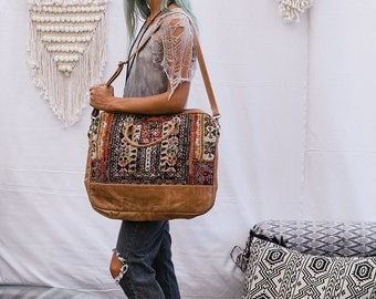 Bohemian Laptop Bag Vintage Tribal Embroidery Leather Bag For Computer Messenger Bag Laptop Shoulder Bag Laptop Handbag