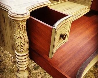 SOLD - Antique Desk, Mahogany Desk, 1920s, Writing Desk, Spinet Desk