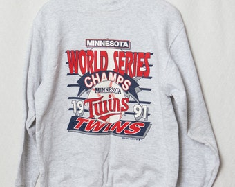 1991 Minnesota Twins World Series Champs Sweatshirt, Vintage Minnesota World Series Champions
